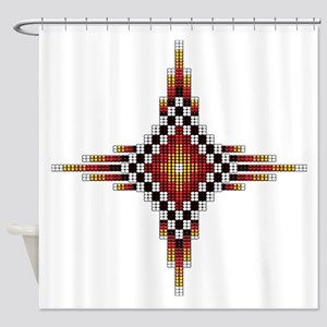 Native Style Hot Radiant Sun Shower Curtain